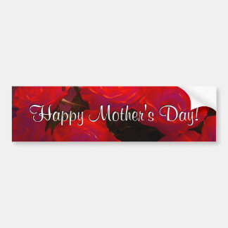 Glückliche Rote Rosen der Mutter Tages Auto Sticker