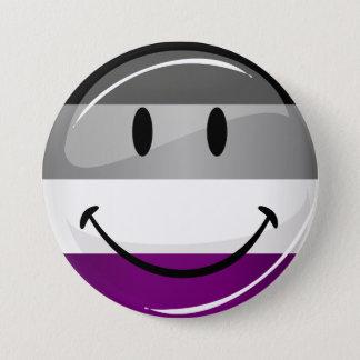 Glückliche runde asexuale Flagge Runder Button 7,6 Cm