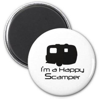 Glückliche Scamper-Scherzartikel! Runder Magnet 5,7 Cm