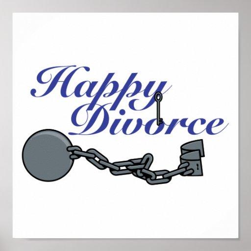 Glückliche Scheidung Plakatdruck