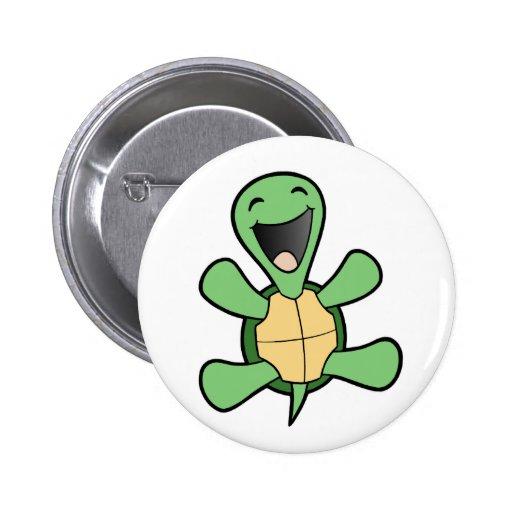 Glückliche Schildkröte Anstecknadel