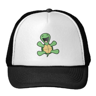 Glückliche Schildkröte Baseball Kappen