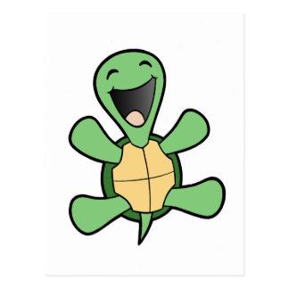 Glückliche Schildkröte Postkarten