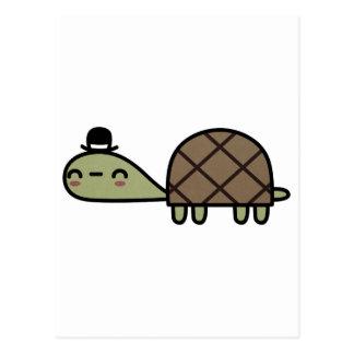 Glückliche Schildkröte Postkarte