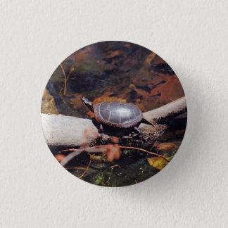 Glückliche Schildkröte Runder Button 3,2 Cm