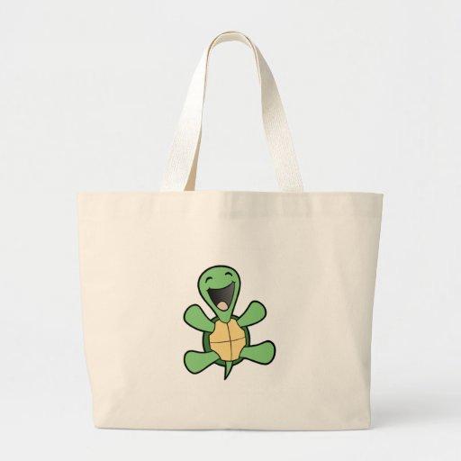 Glückliche Schildkröte Tasche