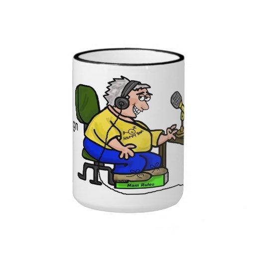 Glückliche Schinken-Betreiber-Kaffee-Tasse fertige