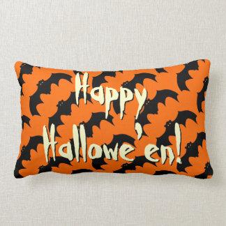 Glückliche Schläger-Muster-Orange Halloweens Lendenkissen