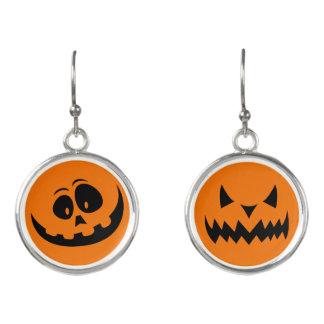 Glückliche schlechte Kürbis-Ohrringe Halloweens Ohrringe