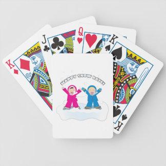 Glückliche Schnee-Tage Spielkarten