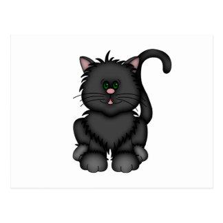 Glückliche schwarze Halloween-Katze Postkarte