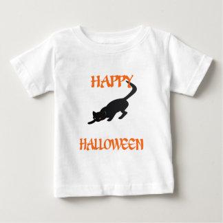 Glückliche schwarze Katze Halloweens Baby T-shirt