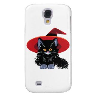 Glückliche schwarze Katze Halloweens Galaxy S4 Hülle