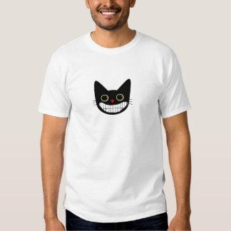 Glückliche schwarze Katze Hemden