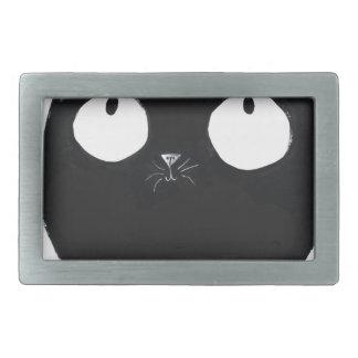 Glückliche schwarze Katze Rechteckige Gürtelschnalle