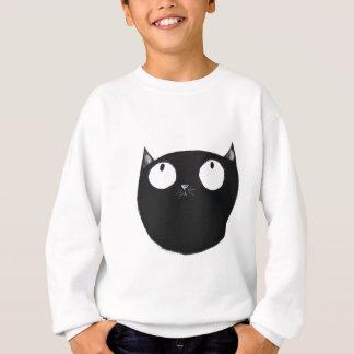 Glückliche schwarze Katze Sweatshirt