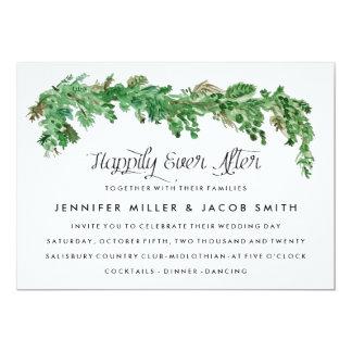 Glückliche seitdem Grün-Hochzeits-Einladung Karte