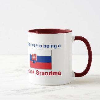 Glückliche slowakische Großmutter Tasse