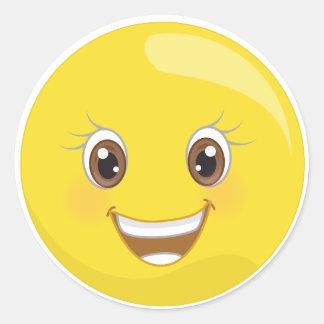 Glückliche Smiley Emoji Aufkleber