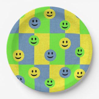 Glückliche Smiley Emoji PapierTeller