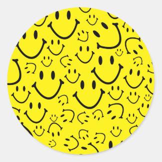 Glückliche Smiley Runder Aufkleber