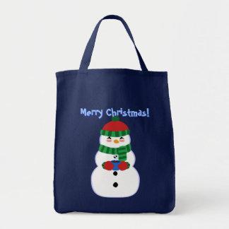 Glückliche Snowman-Taschen-Tasche Tragetasche