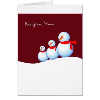 Glückliche snowmans grußkarte