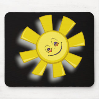 glückliche Sonne der vektorkunst Mauspads