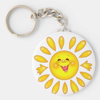 glückliche Sonne Schlüsselbänder
