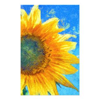 Glückliche Sonnenblume Briefpapier