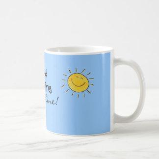 Glückliche Sonnenschein-Tasse