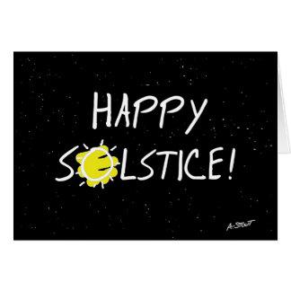 Glückliche Sonnenwende! Grußkarte