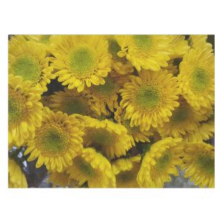 Glückliche sonnige gelbe Blumen-Druck-Tischdecke Tischdecke