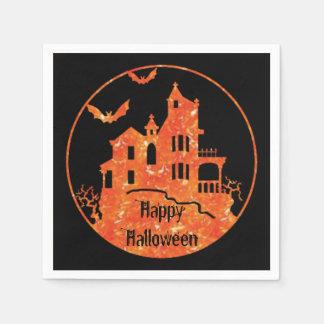 Glückliche Spuk Haus-Servietten Halloweens Papierserviette