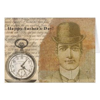 Glückliche Steampunk der Vatertag Herr-Melone Karte