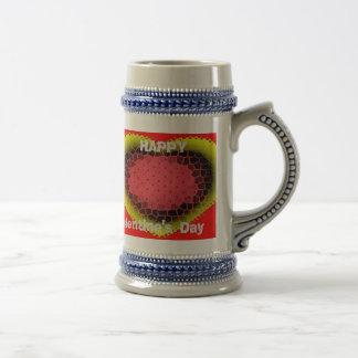 Glückliche STEIN-Tasse der Tag des Valentines!!!! Bierglas