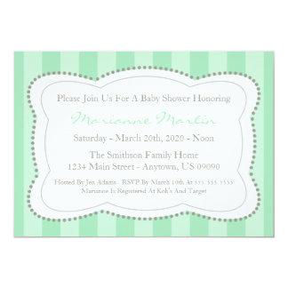 Glückliche Streifen-Babyparty-Einladung 12,7 X 17,8 Cm Einladungskarte
