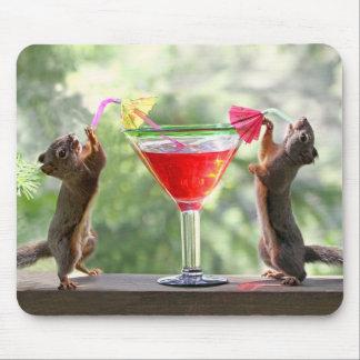 Glückliche Stunden-Eichhörnchen Mousepads