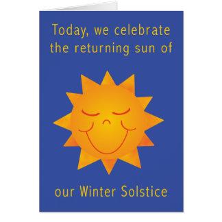 Glückliche Sun-Sonnenwende 2 Grußkarte