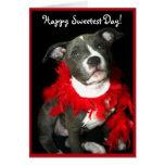 Glückliche süßeste TagPitbull Welpen-Grußkarte