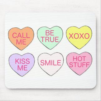Glückliche süßigkeits-Herz-Liebe des Valentines Mousepad