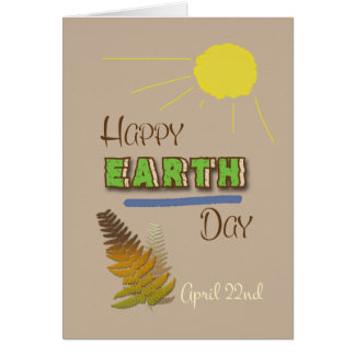 Glückliche Tag der Erde-am 22. April Wort-Kunst Grußkarte