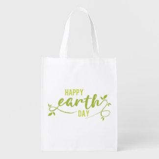 Glückliche Tag der Erde-Einkaufstüte Wiederverwendbare Einkaufstasche
