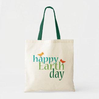 Glückliche Tag der Erde-Tasche Budget Stoffbeutel