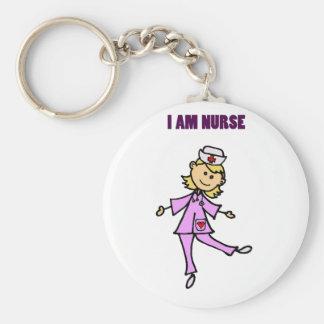 Glückliche Tanzen-Krankenschwester-Kunst Schlüsselanhänger