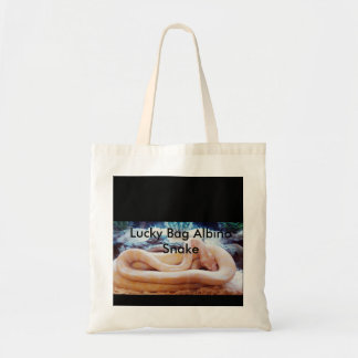 Glückliche Taschen-Albino-Schlange Budget Stoffbeutel
