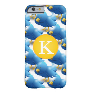 Glückliche tweetende Twitter-Ikone w/Monogram Barely There iPhone 6 Hülle
