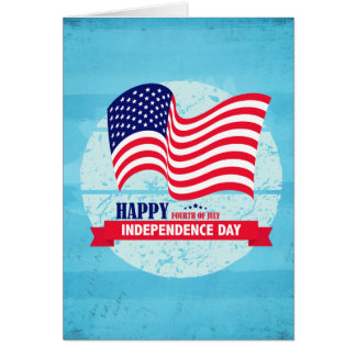 Glückliche Unabhängigkeitstag-amerikanische Karte