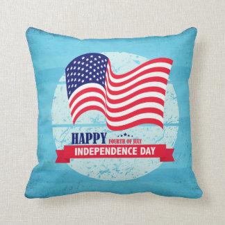 Glückliche Unabhängigkeitstag-amerikanische Kissen