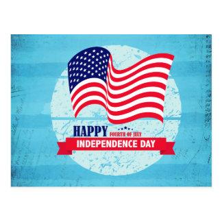 Glückliche Unabhängigkeitstag-Flagge-Illustration Postkarte